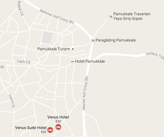 Venus Hotel harita